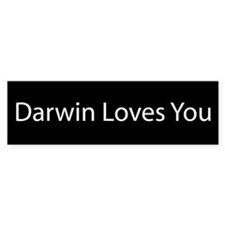 Darwin Loves You Bumper Bumper Sticker