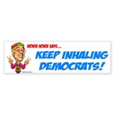 Dean Keep Inhaling Bumper Bumper Sticker