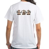 White 3 Monkeys T-Shirt