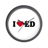 I LOVE ED ~  Wall Clock