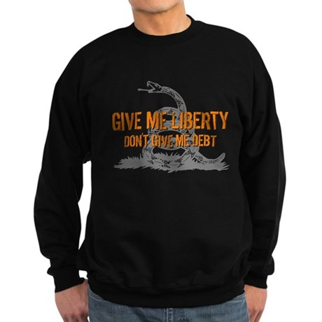 Don't Give Me Debt Sweatshirt (dark)