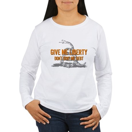 Don't Give Me Debt Women's Long Sleeve T-Shirt