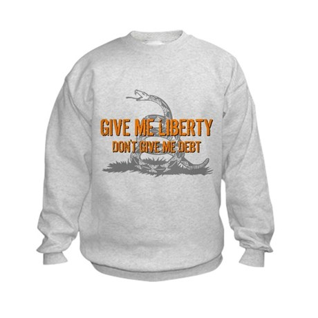Don't Give Me Debt Kids Sweatshirt