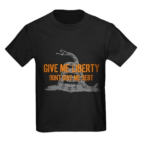Don't Give Me Debt Kids Dark T-Shirt