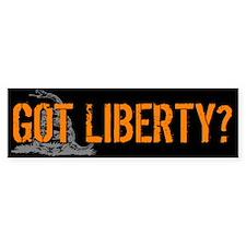 Got Liberty Rattlesnake Bumper Sticker (10 pk)