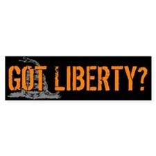 Got Liberty Rattlesnake Bumper Bumper Sticker