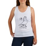 Royal Snow Tumbler Pigeon Women's Tank Top
