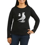 Royal Snow Tumbler Pigeon Women's Long Sleeve Dark