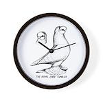 Royal Snow Tumbler Pigeon Wall Clock