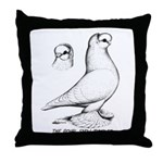 Royal Snow Tumbler Pigeon Throw Pillow