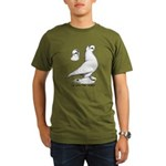 Royal Snow Tumbler Pigeon Organic Men's T-Shirt (d