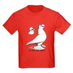 Royal Snow Tumbler Pigeon Kids Dark T-Shirt