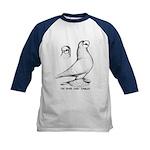 Royal Snow Tumbler Pigeon Kids Baseball Jersey
