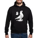 Royal Snow Tumbler Pigeon Hoodie (dark)