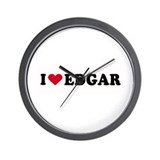 I LOVE EDGAR ~  Wall Clock