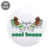 "Cool Beans 3.5"" Button (10 pack)"