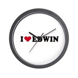 I LOVE EDWIN ~  Wall Clock