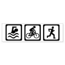 Triathlon Bumper Bumper Sticker