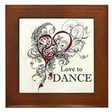 Love to Dance Framed Tile