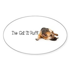 German Shephard Oval Decal