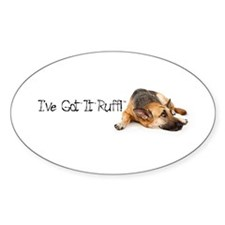 German Shephard Oval Sticker (10 pk)