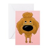 Poodle Valentine's Day Greeting Card