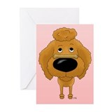 Poodle Valentine's Day Greeting Cards (Pk of 20)