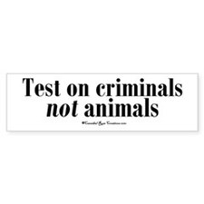 Criminal Behavior Bumper Bumper Sticker
