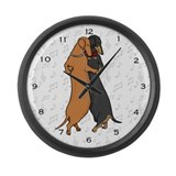 Dancing Dachshunds Large Wall Clock