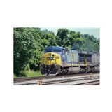 CSX Q190 Doublestack Train Rectangle Magnet