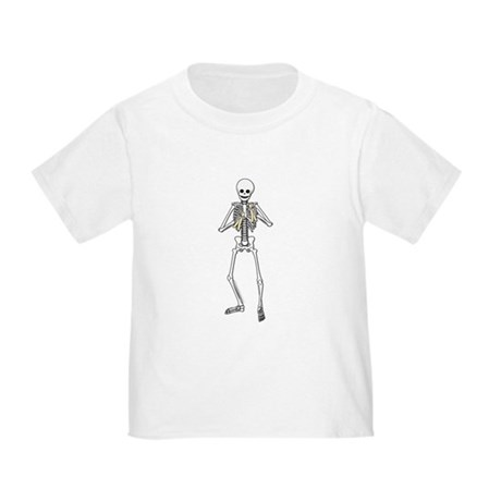 Skeleton Bone Player Toddler T-Shirt