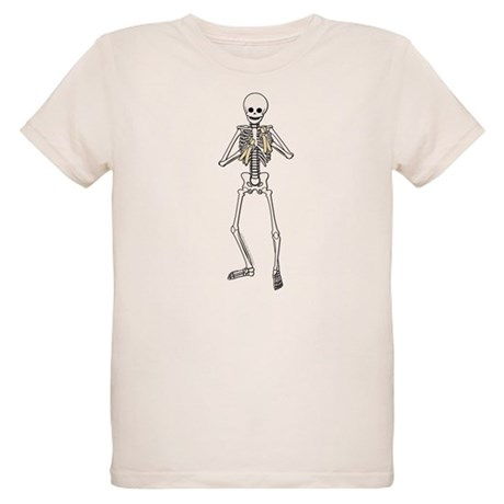 Skeleton Bone Player Organic Kids T-Shirt