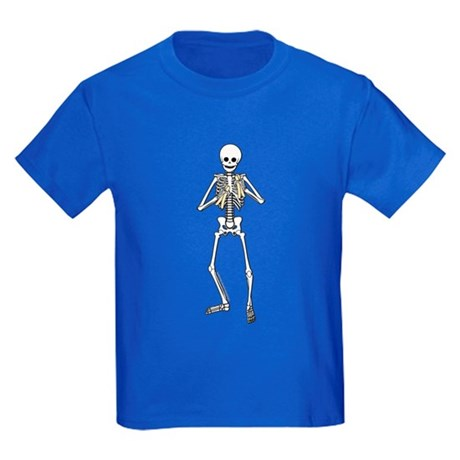 Skeleton Bone Player Kids Dark T-Shirt