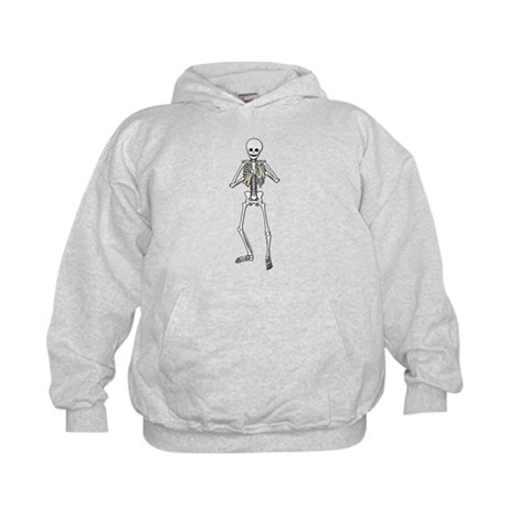 Skeleton Bone Player Kids Hoodie