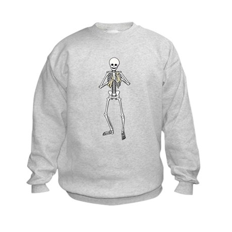 Skeleton Bone Player Kids Sweatshirt