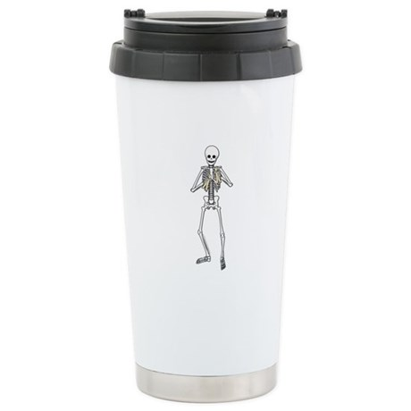 Skeleton Bone Player Ceramic Travel Mug