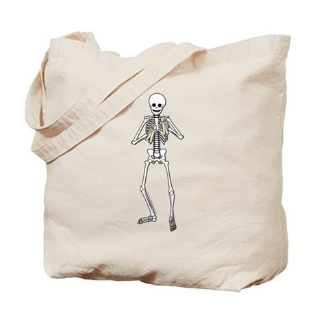 Skeleton Bone Player Tote Bag