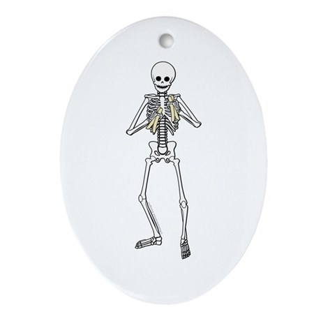 Skeleton Bone Player Oval Ornament