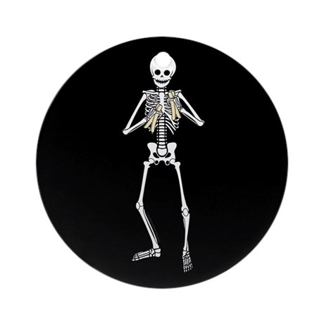 Skeleton Bone Player Ornament (Round)