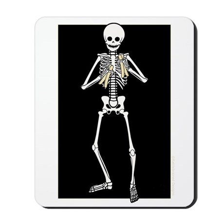 Skeleton Bone Player Mousepad