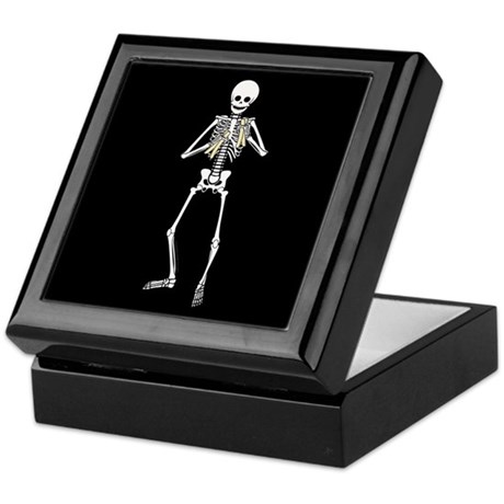 Skeleton Bone Player Keepsake Box