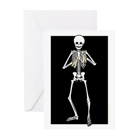 Skeleton Bone Player Greeting Card