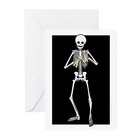 Skeleton Bone Player Greeting Cards (Pk of 10)