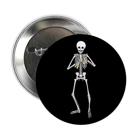 "Skeleton Bone Player 2.25"" Button (100 pack)"