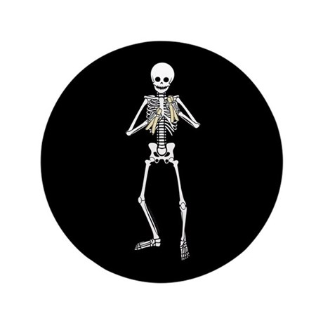 "Skeleton Bone Player 3.5"" Button"