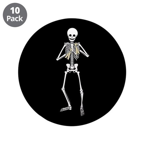 "Skeleton Bone Player 3.5"" Button (10 pack)"