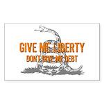 Don't Give Me Debt Rectangle Sticker 50 pk)