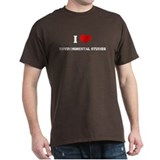 I Love Environmental Studies Black T-Shirt