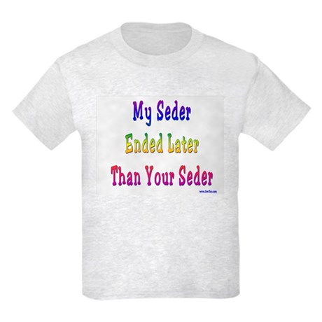 My Passover Seder Ended Late Kids Light T-Shirt