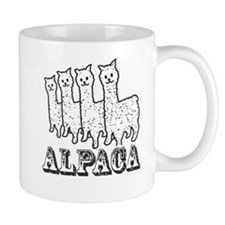 Alpaca 4 Black & White Mug